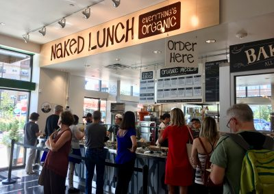 Naked Lunch- an all organic vegetarian eatery