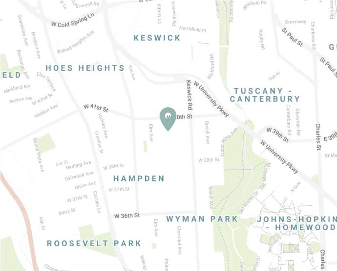 Hampden Baltimore map